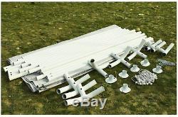 Nouveau Carport Blanc Cadre Portable Garage Abri De Voiture En Acier Extérieur Voiture Gar Canopy