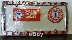 Ohio State Buckeyes License Plate Métalframe Osu Licence Officielle Camion Voiture