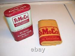 Original Nos Ford Promo Auto Accessoire Vintage Outil Can Cloth Service Fomoco Old