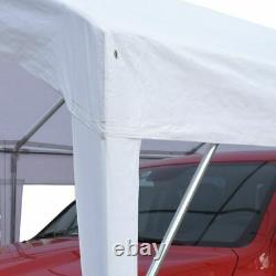 Peaktop Outdoor Shed 10x20 Heavy Duty Carport Steel Frame Car Shelter Canopy Us