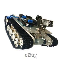Pièces De Voiture De Châssis De Réservoir Suivies Par Voiture Intelligente De Robot De Rc Rc D'argent Avec La Caméra