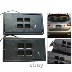 Plaque D'immatriculation Hide Hider Flipper Car Bracket Frame Flipper+rétractable Avecremote