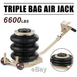 Portable 3 Tonnes Soulève Le Triple Étape Sac Air Go Jack Cadre Alignement Magasin De Camion De Voiture