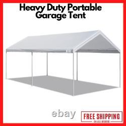 Porte-auto Canopy 10' X 20' Garage Portable Tente Car Shelter Cadre En Acier