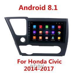 Pour 2014-2017 Honda CIVIC 9'' Android 8.1 Voiture Stereo Radio Gps Fm 2+32g Avec Cadre