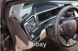 Pour Honda CIVIC 9 2012-2015 Tableau De Bord De Voiture Taille Du Châssis De Couverture Bezel En Fibre De Carbone