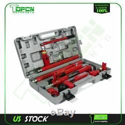 Puissance Hydraulique Jack 10 Ton Corps Porta Frame Repair Kits Auto Outils Automobiles Ascenseur Ram
