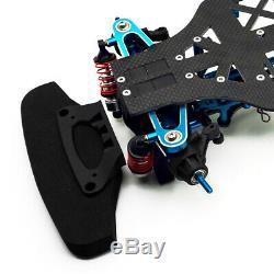 Rc 1/10 4wd En Alliage Métallique Et Carbon Touring Kit Frame Voiture Pour Tamiya Tt01 Tt01e Us