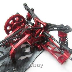 Red 1/10 Alloy & Carbon Sakura D4 Awd Ep Drift Car Frame Body Kit #kit-d4awd