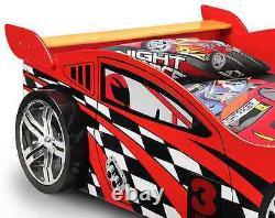 Red Racing Sports Car Bed Frame 3ft Lit De Coureur Simple