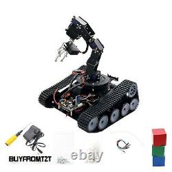 Robot Tank Car 6dof Arm Tracking Gripping 51/arduino/stm32 Open Source Optionnelle