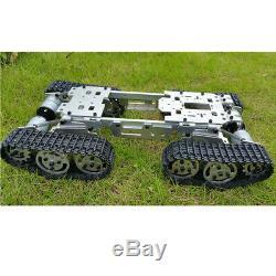Robot Tank Car Kit Châssis Avec 4 Roues Motrices Pour Moteurs Arduino Bricolage, 15x8x3.3 Pouces