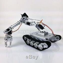 Shock Absorber Rc Tank Car Avec Connexion Wi-fi 12v Moteur 7-ddl Robot Arm Gripper B