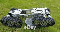Smart Rc Tank Car Truck Robot Plate-forme Climbin Métal Réservoir Châssis Diy 350 RPM Cn