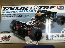 Tamiya 1/10 Rc-s Ta03r Trf Kit Châssis Spécial Withlightweight Body 4 Roues Motrices Voiture De Course