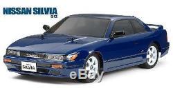 Tamiya 58532 1/12 Rc Rwd M-châssis Voiture Kit M06 Nissan Silvia S13 Coupé Avecesc