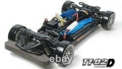 Tamiya 58584 1/10 Rc Car Kit Tt02-d Drift Spec Châssis Withsport-tuned Moteur