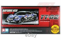 Tamiya 58599 1/10 Ep Rc Tt-02 Châssis Kit De Voiture Honda Raybrig Nsx Concept-gt Avecesc