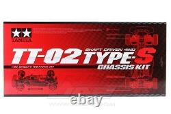 Tamiya 58600 1/10 Échelle Rc 4wd Voiture Sur Route Tt-02 Type S Châssis Kit Tt02s