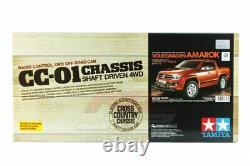 Tamiya 58616 1/10 Ep Rc Voiture Cc01 Chassis Volkswagen Amarok Camion De Ramassage Avec Esc