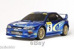Tamiya 58631 1/10 Ep Rc Voiture Tt02 Châssis Subaru Impreza Sti Wrc 99 Gc8 Aveccs