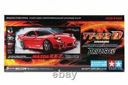 Tamiya 58648 1/10 Rc Tt02-d Châssis Drift Spec Car Kit Mazda Rx-7 Fd3s Avecesc+led