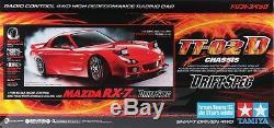 Tamiya 58648 1/10 Rc Tt02-d Kit De Configuration Pour La Voiture À La Dérive Mazda Rx-7 Fd3s Avecesc + Led