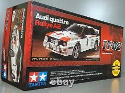 Tamiya # 58667 1/10 R/c Voiture Tt02 Châssis Audi Quattro 4wd Rallye A2 Kit Withesc