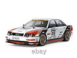Tamiya 58682 1/10 Rc Voiture Tt-02 Chassis Audi V8 Touring Quattro Dtm'91 Kit Avec Esc