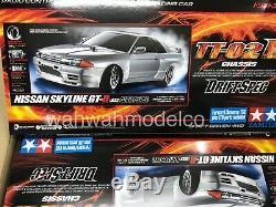 Tamiya Nissan Skyline Gt-r R32 58651 Tt-02d Châssis Drift Spec Rc Voiture