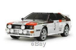 Tamiya Rc Audi Quattro A2 Rallye Kit Voiture, Tt-02 Châssis