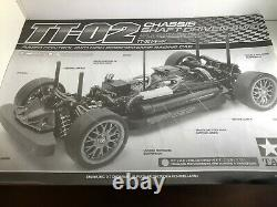 Tamiya Tt-02 4wd Shaft Driven Chassis Kit 1/10 Scale Rc Car Nib