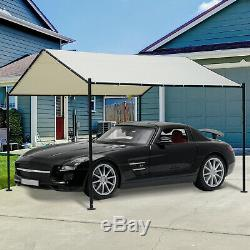 Tente De Parking Pour Voiture Avec Toit En Toile Et Châssis En Métal, 11,5 X 11,5