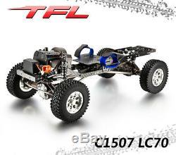 Tfl Rock Crawler 1/10 4wd T10 Pro 1507 Lc70 Rc Modèle De Voiture En Métal Châssis Bricolage Scx10