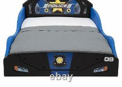 Tout-petit Bed Frame Police Car Guard Rails Kids Bedroom Furniture Boys Girls Safe