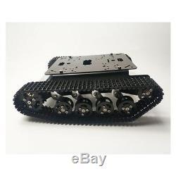 Ts100 Métal Rc Robot Tank Car Châssis Choc Absorption Voiture Avec 12v 330rpm Sz