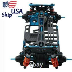USA 1/10 Rc Metal Shaft Drive 4wd Touring Car Frame Kit For Tamiya Tt01 Alliage