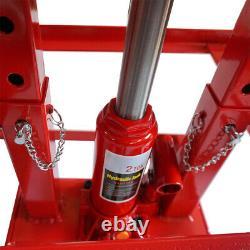 Une Paire Auto Camion Voiture Service Rampe De Levage Hydraulique Heavy Duty Réparation Red Frame