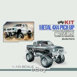 Us Stock Hg Racing Crawler 1/10 Rc 44 Ramassage Rally Car Kit Châssis Gearbox