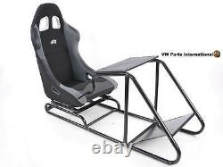 Voiture Gaming Racing Sim Frame Chaise Bucket Seat Black Grey Fits Fanatec Logitech