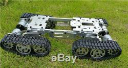 Wzy569 Rc Intelligent Réservoir De Camion De Voiture Robot Châssis Corps En Alliage Plastique Piste Désassembler