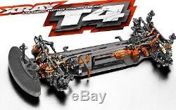 Xray T4 2019 1/10 Touring Voiture Électrique Graphite Châssis Kit Asct Xra300025