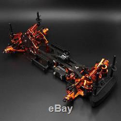 Yeah Racing Alum Carbon Chassis Roller Spt2-d Rwd Kit De Voiture De Conversion Drift