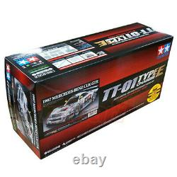 ####tamiya 47437 1/10 Rc Car Tt-01e Châssis Mercedes-benz Clk-gtr 1997 Kit Withesc